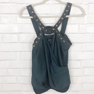 BEBE Sleeveless Top With Embellished Neck. Size S